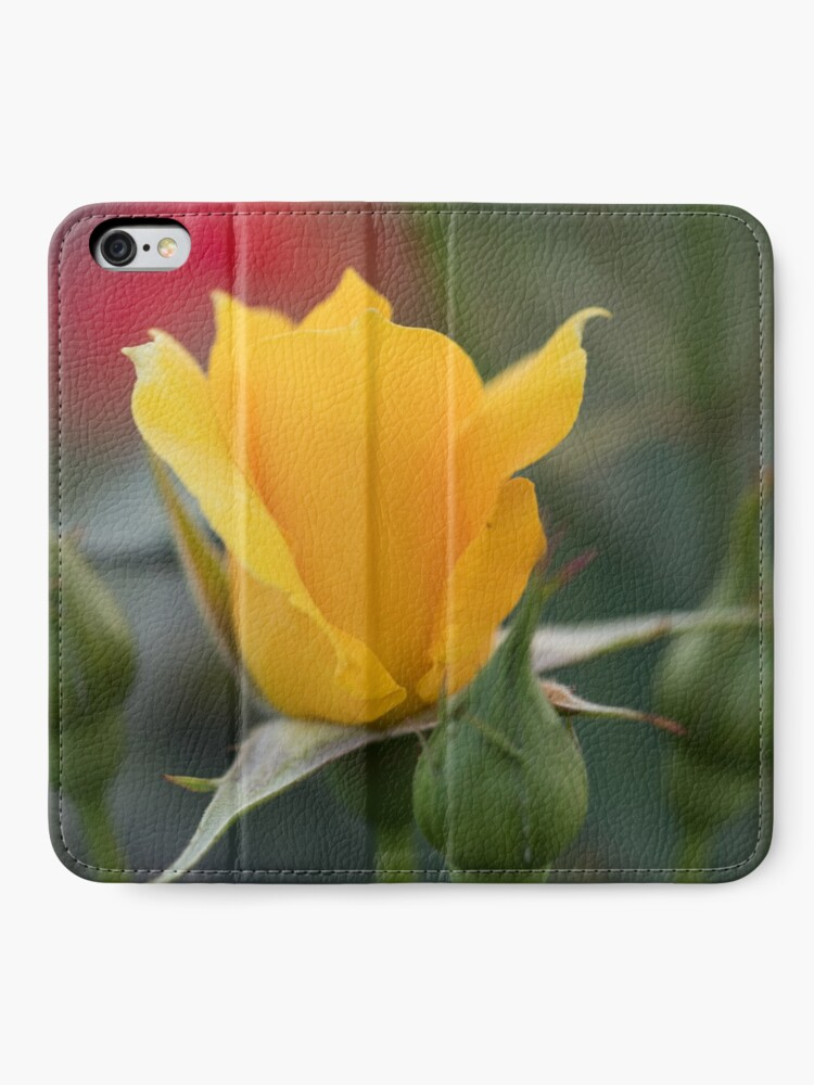 Alternate view of of Yellow rose too iPhone Wallet