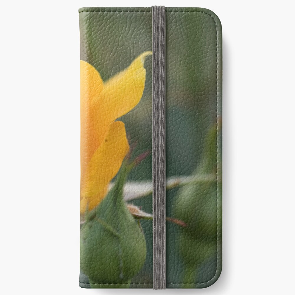 of Yellow rose too iPhone Wallet