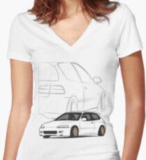 JDM Hatch Women's Fitted V-Neck T-Shirt