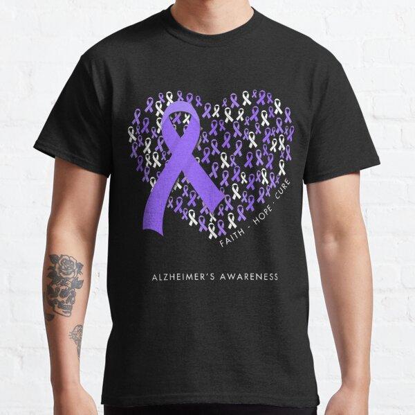 Faith Hope Love Alzheimer Awareness Cancer Ribbon Heart Classic T-Shirt