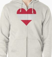 A heart for Austria Zipped Hoodie