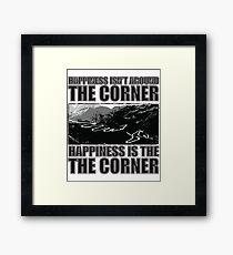 Happy Corner Framed Print