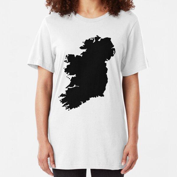 Map of Ireland Slim Fit T-Shirt