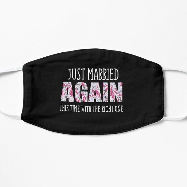 Recién casados de nuevo, segunda camisa de boda, esta vez con la correcta, idea de regalo para recién casados, segundo anuncio de boda, camisa de luna de miel Mascarilla plana