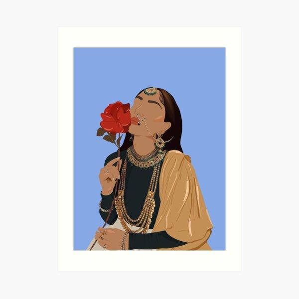 Desi Baddie Series - Royalty Art Print