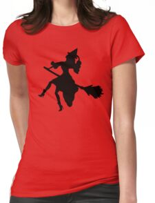 Witch on a Broom Womens Fitted T-Shirt