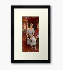 REPIN, ILYA - Portrait of the Violinist Cecilia Hansen Framed Print
