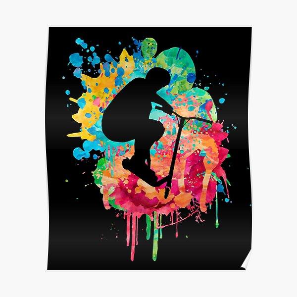 Style de trottinette acrobatique Poster