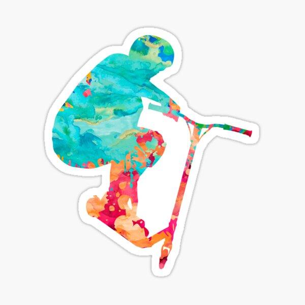 Compétence de trottinette acrobatique Sticker