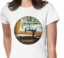 Sewing Machine By Window Womens Fitted T-Shirt