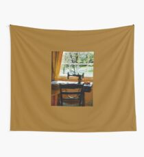 Sewing Machine By Window Wall Tapestry