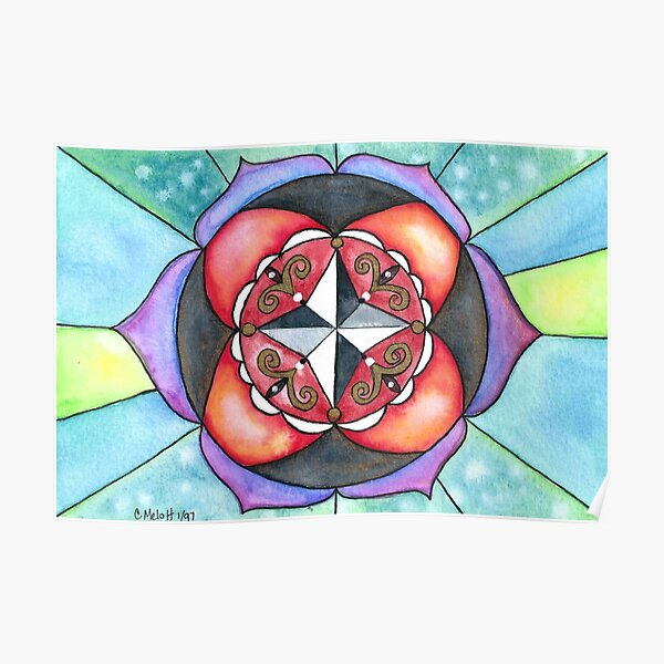 Mandala of Directions Poster