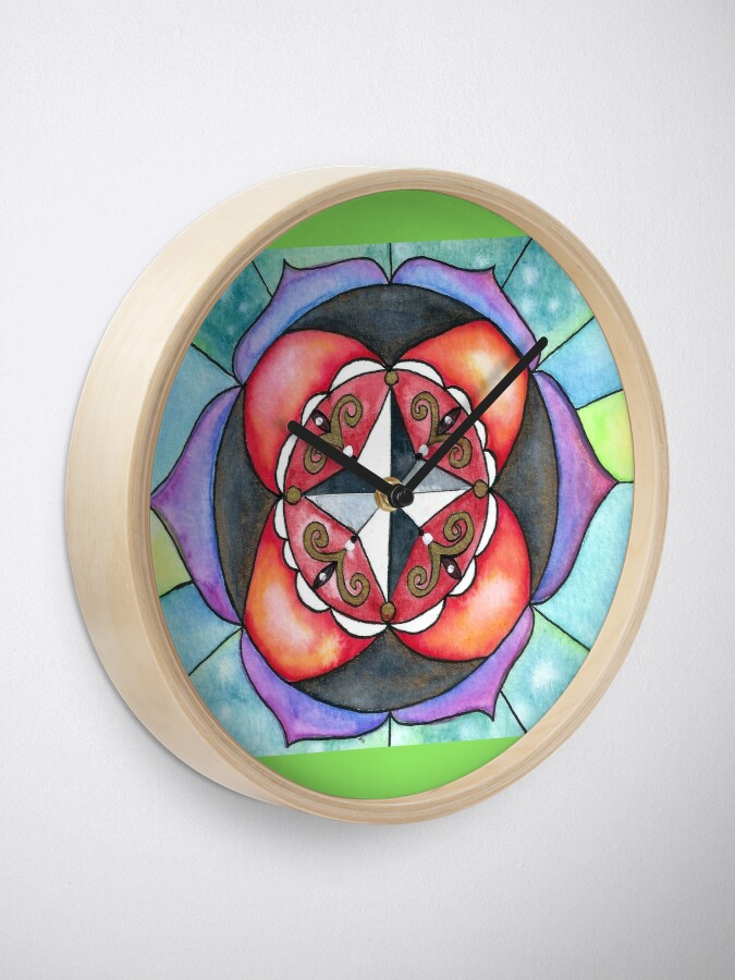 Alternate view of Mandala of Directions Clock
