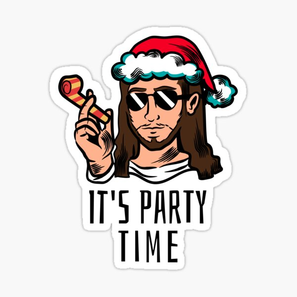 Jesus birthday party Sticker