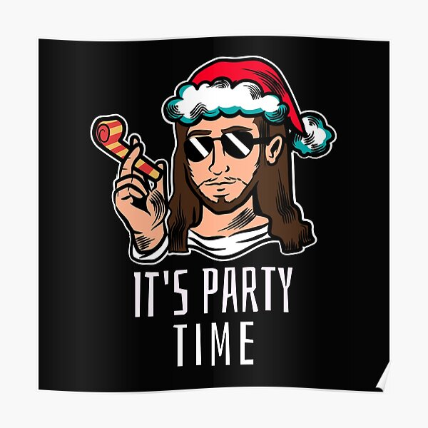 Jesus birthday party Poster