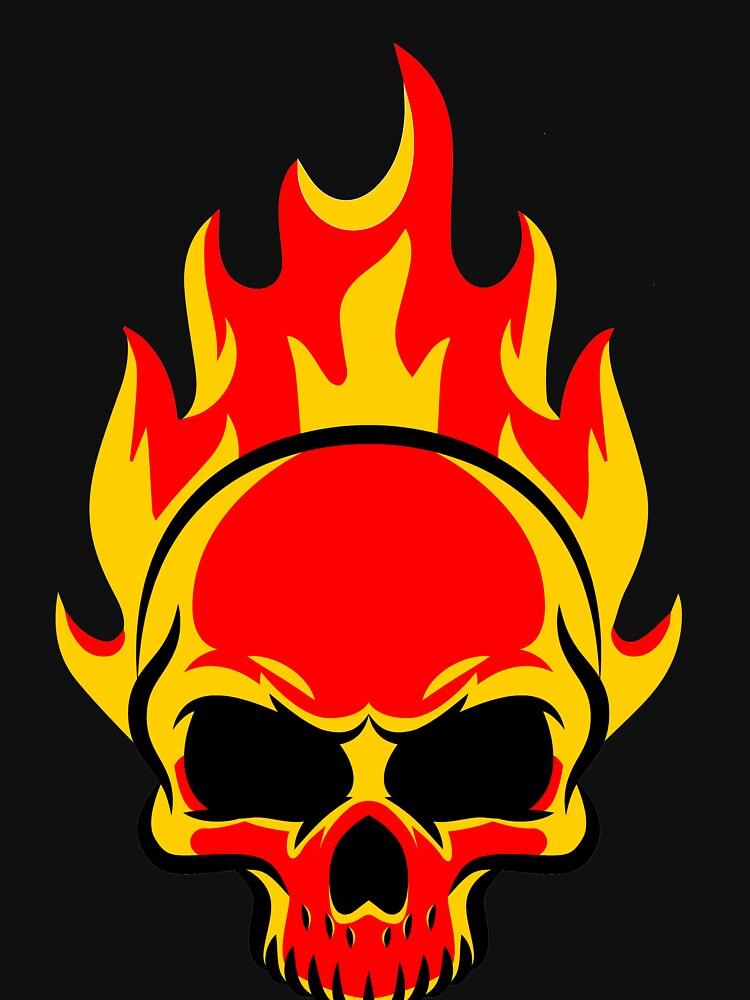 Skull is on fire by abhinavt777