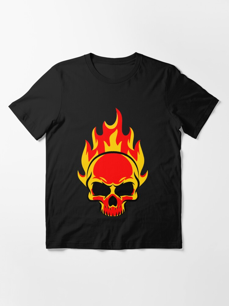 Alternate view of Skull is on fire Essential T-Shirt