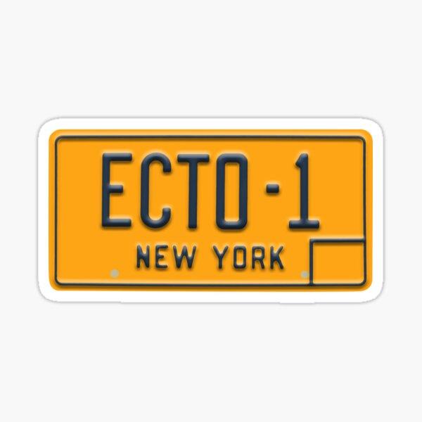Ecto-1 License Plate Sticker Ghostbusters Sticker