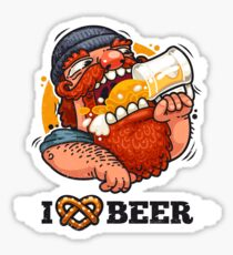 Man Loves Beer Sticker