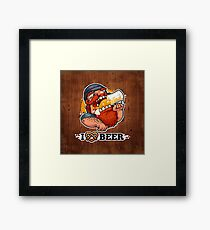 Man Loves Beer Framed Print