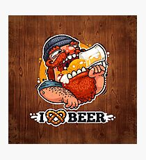 Man Loves Beer Photographic Print