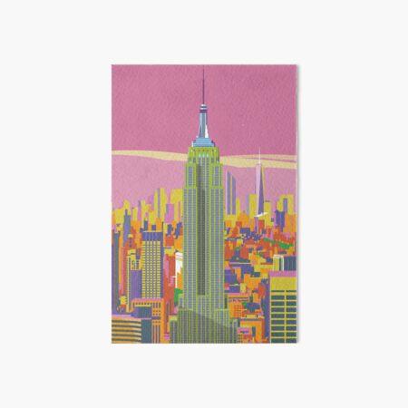 Empire State Building vivid print Art Board Print