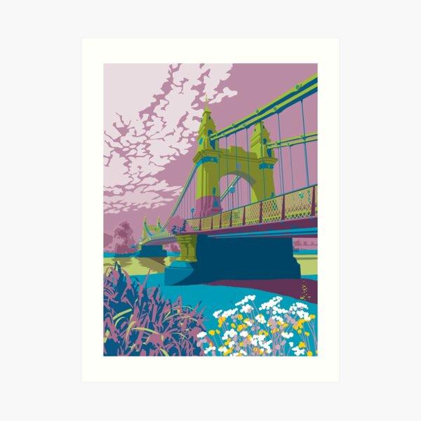 Hammersmith Bridge vivid print Art Print