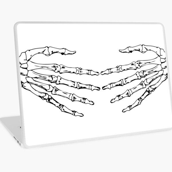 Skeleton Hug Laptop Skin
