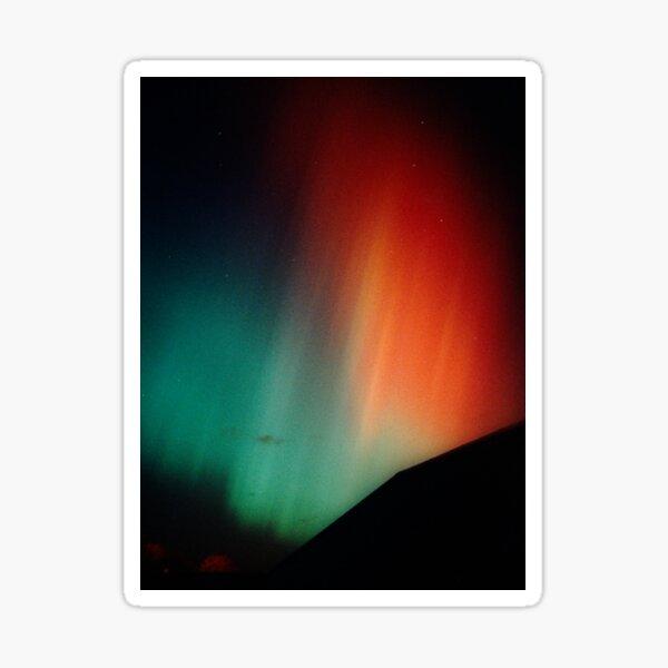 Intense red & green aurora Sticker