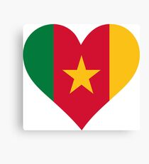 A heart for Cameroon Canvas Print