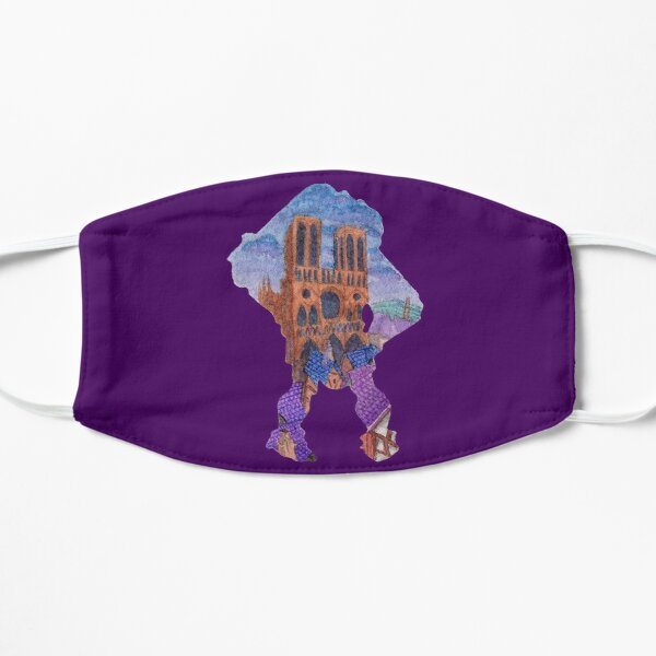 Watercolor Silhouette The Hunchback of Notre Dame Flat Mask
