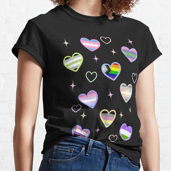Cute genders LOVE PRIDE Camiseta clásica