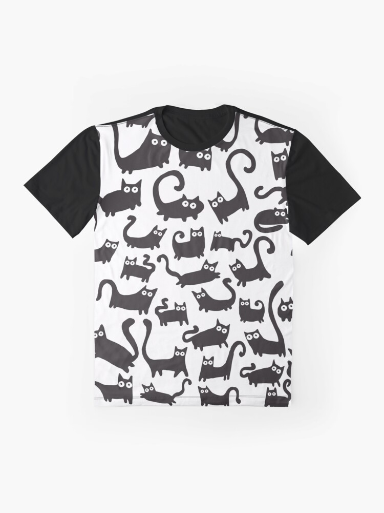 Alternate view of Black cats Graphic T-Shirt
