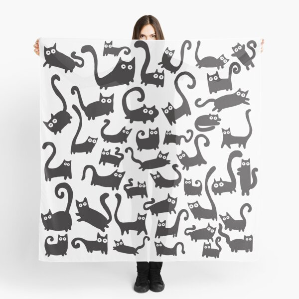 Black cats Scarf