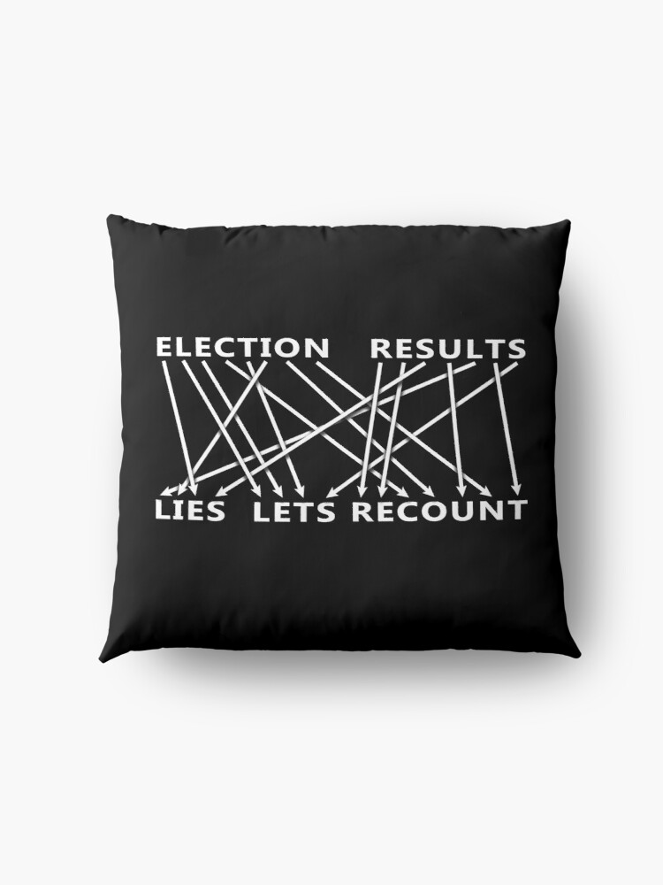 Alternate view of Election Result is Lies! Let's Recount - Anagram Floor Pillow