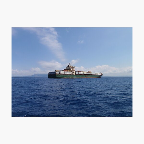 Container Ship Photographic Print