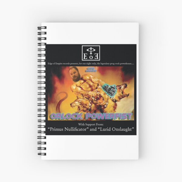 Chris Gibson's Orlock Powerfist Spiral Notebook
