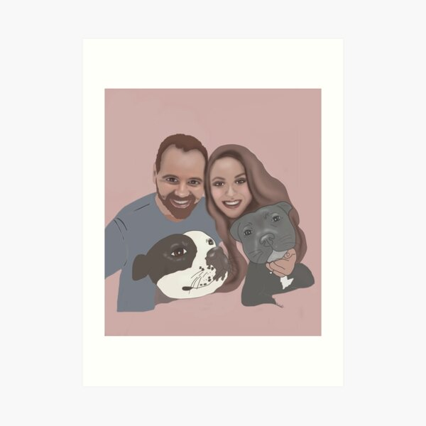 Jess pink option  Art Print