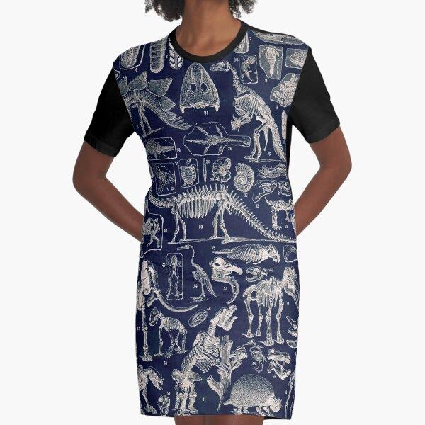 Adolphe Millot - Paleontologie (paleontology)- vintage french poster Graphic T-Shirt Dress