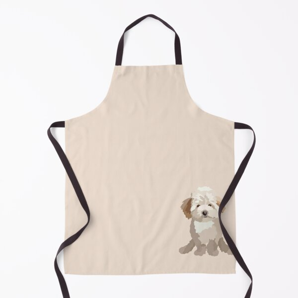 Maltipoo Thunder Dog Portrait Digital Illustration Apron