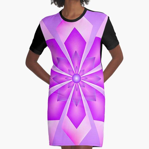 Pink Chrystal Graphic T-Shirt Dress