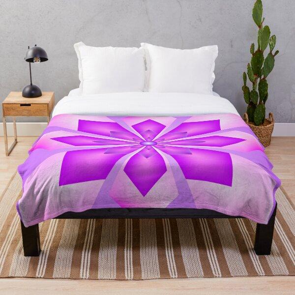 Pink Chrystal Throw Blanket