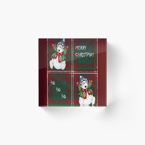 Merry Christmas snowman ,cute, fun, Christmas design  Acrylic Block