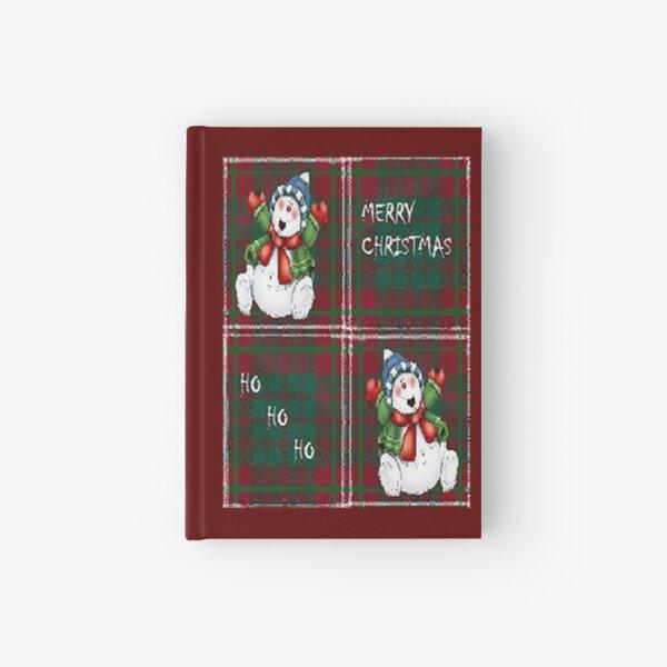 Merry Christmas snowman ,cute, fun, Christmas design  Hardcover Journal