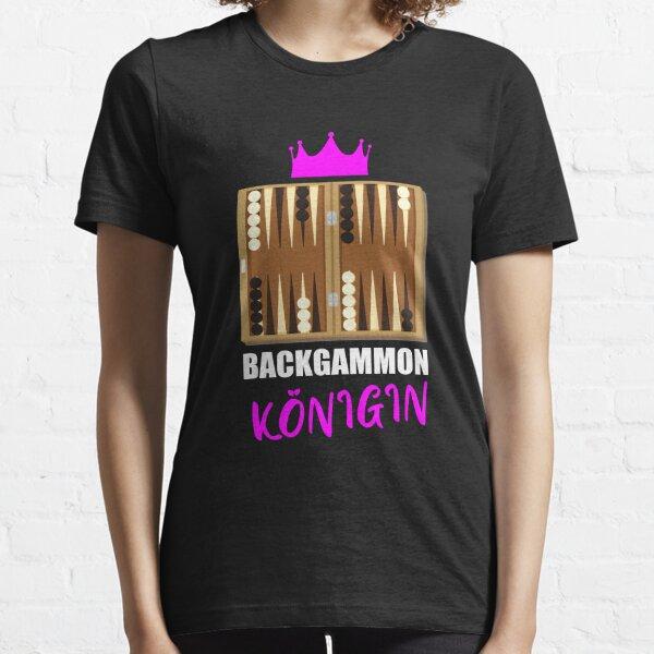 Backgammon Queen - Board Game Dice Essential T-Shirt
