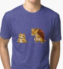 Pokemon Sandshrew Evolution Tri-blend T-Shirt