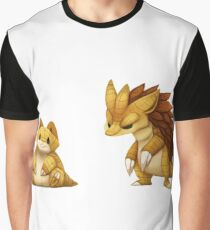 Pokemon Sandshrew Evolution Graphic T-Shirt