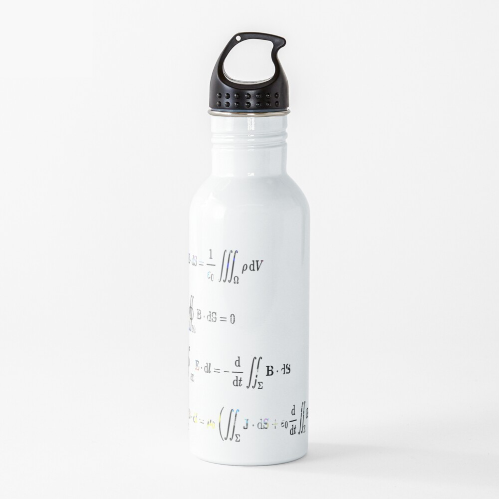 Maxwell's equations are partial differential equations that relate the electric and magnetic fields to each other and to the electric charges and currents Water Bottle