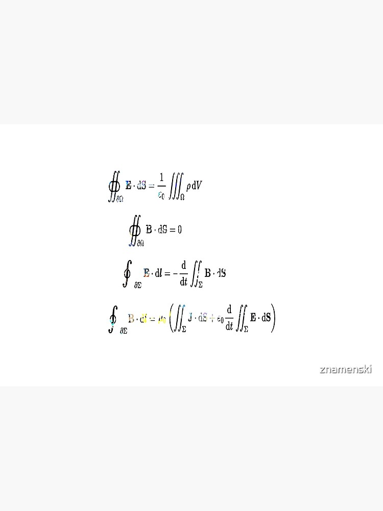 Maxwell's equations are partial differential equations that relate the electric and magnetic fields to each other and to the electric charges and currents by znamenski