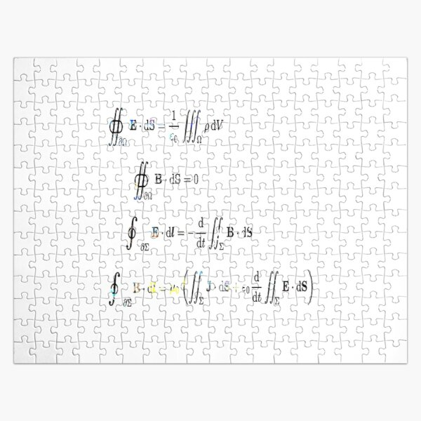 Maxwell's equations are partial differential equations that relate the electric and magnetic fields to each other and to the electric charges and currents Jigsaw Puzzle